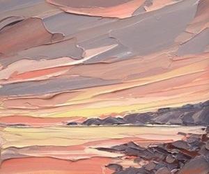 art, beautiful, and sunset image