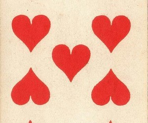 cards, red heart, and vintage image