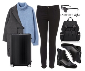 airport, black, and blue image