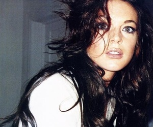 lindsay lohan, brunette, and pretty image