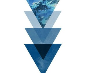 triangle, blue, and art image