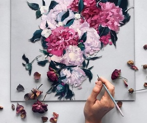 flowers, beautiful, and draw image