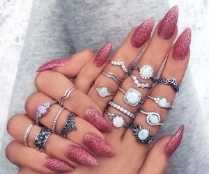 glitter, nails, and longnails image