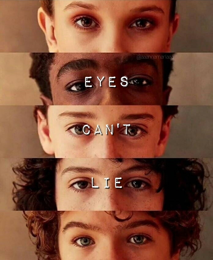 dustin, eleven, and eyes image