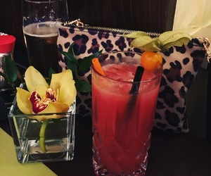 Cocktails, drinks, and flower image