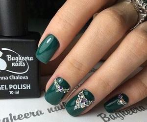 emerald, green, and nail art image