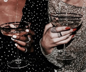 drink, style, and nails image