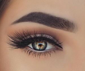 brown, eyes, and make up image
