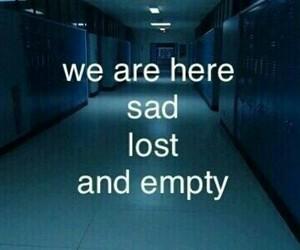 empty, sad, and lost image