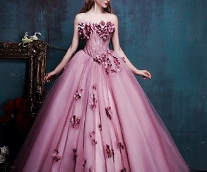 ball gown, elegance, and fashion image