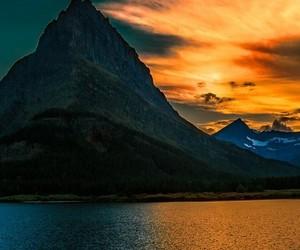 dawn, mountain, and orange image