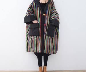 long coat, padded coat, and oversize coat image