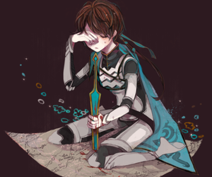 anime, cry, and illustration image