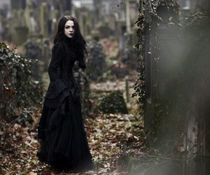 black, graveyard, and dark image
