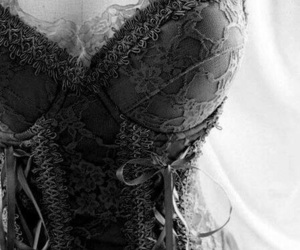corset, sexy, and lace image