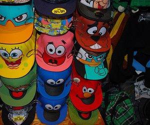 cap, hat, and spongebob image