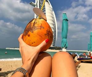 beach, summer, and clock image