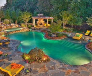 living, luxury, and pool image