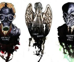 doctor who, silence, and weeping angel image
