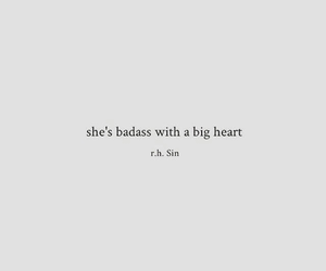 badass, heart, and quotes image