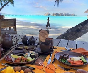 bali, beach, and meal image