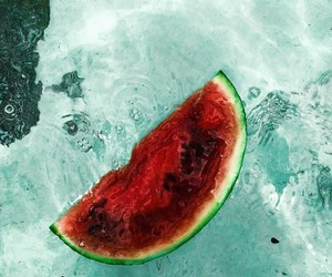 wallpaper, water, and watermelon image