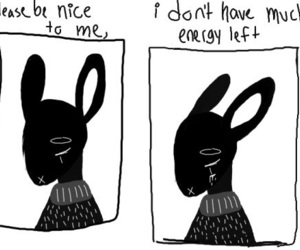 sad, quotes, and bunny image