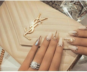 nails, luxury, and YSL image