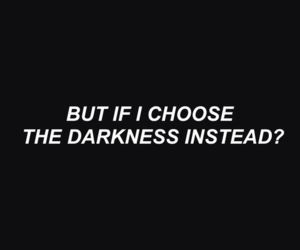 quotes, Darkness, and black image