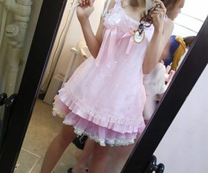 brunette, pink, and cosplay image