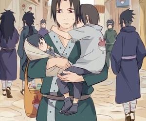 naruto, itachi, and sasuke image