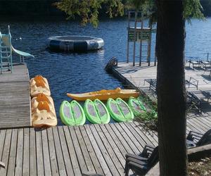 lake, summer, and summer camp image
