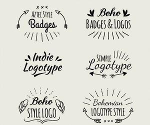 aztec style badges, boho badges and logos, and indie logotype image