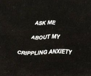 anxiety, black, and words image