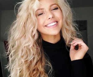 girl, hair, and loren gray image