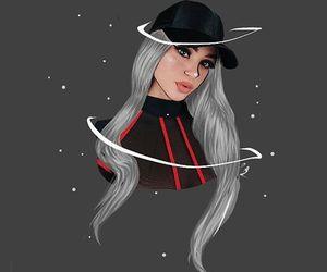 cartoon, redxblack, and greyhair image