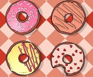 colurs, donuts, and pink image