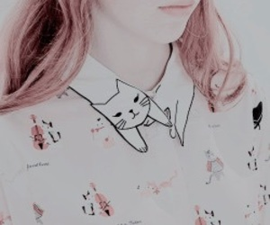 blouse, collar, and cat image