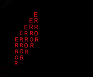 black, error, and header image