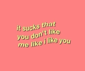 sad, pink, and quotes image