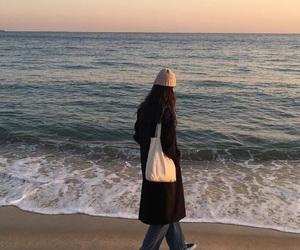 aesthetics, beach, and coat image
