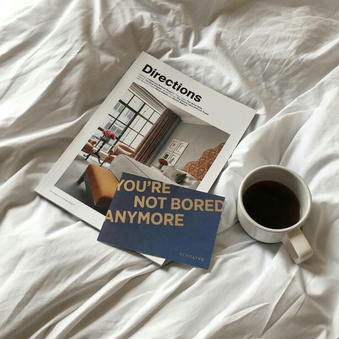 coffee and magazine image