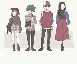 momo, boku no hero academia, and midoriya image