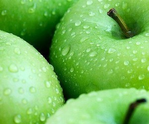 apple, blue, and green image
