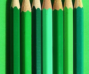 green, pencil, and color image