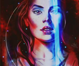 art, star wars, and lightsaber image