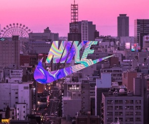 background, brands, and city image