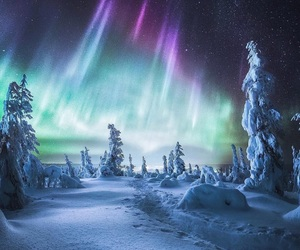 finland and northern lights image