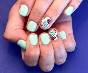hand made, manicure, and mint image