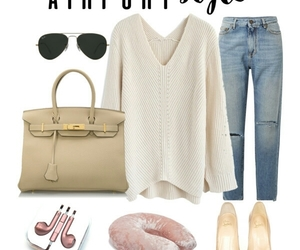 fashion, sweater, and hermes image